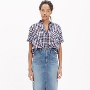 Madewell Oversized Plaid Courier Button Down